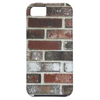 Multi kleurenbakstenen muur met rood, wit en bruin tough iPhone 5 hoesje