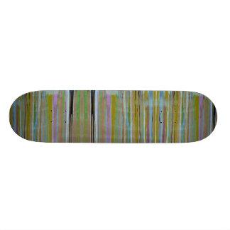 Multi kleurenskateboard 18,1 cm old school skateboard deck