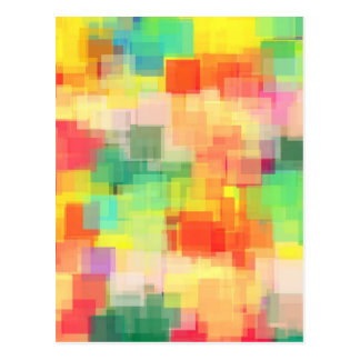 Multicolored Abstract Geometrisch Patroon Briefkaart