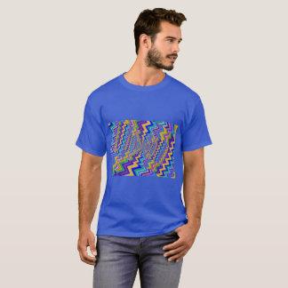 multicolored draaikolk op de Fundamentele Donkere T Shirt