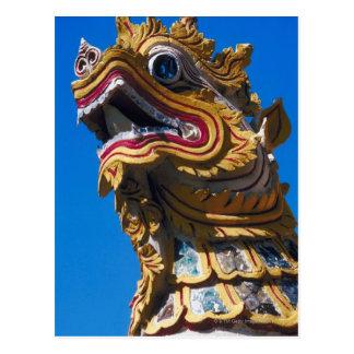 Multicolored draakstandbeeld bij Di van Wat Duang Briefkaart