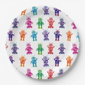 Multicolored Gekke Partij van de Verjaardag van de Papieren Bordje