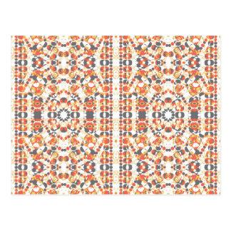 Multicolored Geometrisch Patroon Briefkaart