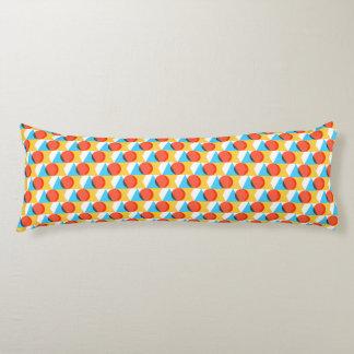 Multicolored Geometrische Patroon van Vormen Lichaamskussen