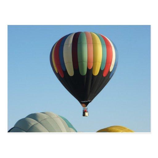 Multicolored hete luchtballons wenskaarten