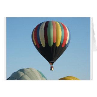 Multicolored hete luchtballons wenskaart