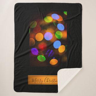 Multicolored lichten van Kerstmis. Voeg tekst of Sherpa Deken