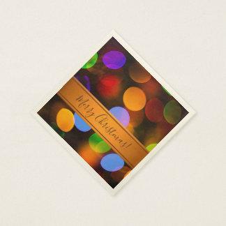 Multicolored lichten van Kerstmis. Voeg tekst of Wegwerp Servetten
