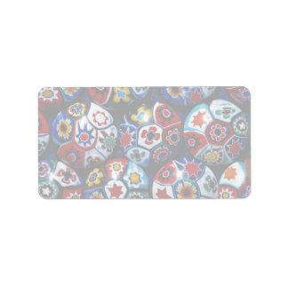 Multicolored rondes etiket