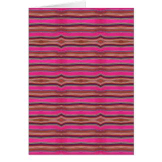 Multicolored Roze VolksKunst Mexico van het Oranje Wenskaart