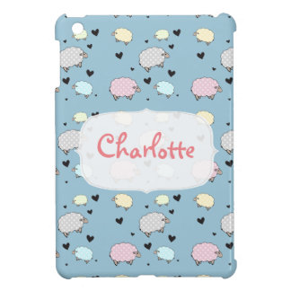 Multicolored Schapen van de Pastelkleur Polkadot iPad Mini Cases
