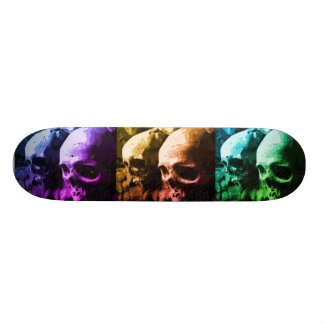 Multicolored Skateboard van de Schedel