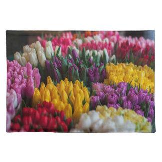 Multicolored Tulpen Placemat