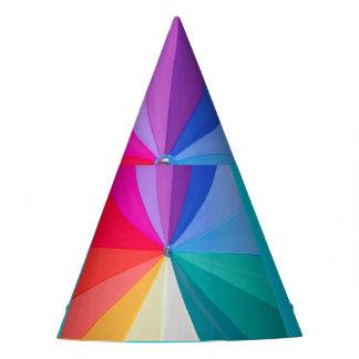 multicoloured draaikolk op het Pet van de Partij Feesthoedjes