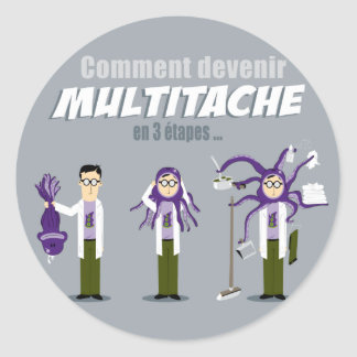 Multitâche Ronde Sticker
