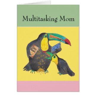 Multitasking Mamma - grappige kaart met toekannen
