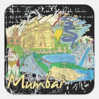 Mumbai Vierkante Sticker