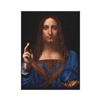 mundi van Salvador door Leonardo da Vinci Canvas Print