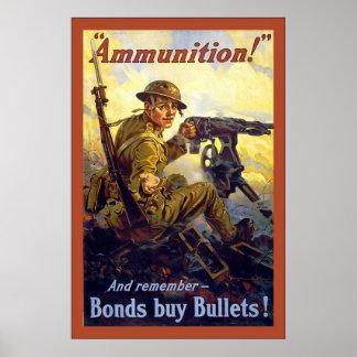 Munitie! oorlog van de Wereld van ~Vintage 1 Poster