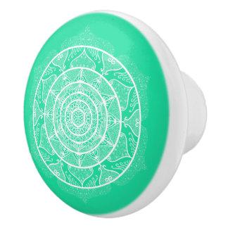 Muntachtige Mandala Keramische Knop