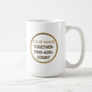 Muntstuk met Switchwords voor rijkdom Koffiemok