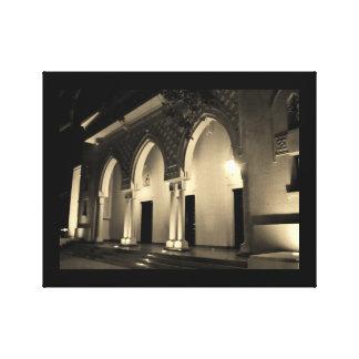Murabba de Bogen van het Paleis bij Nacht Canvas Print