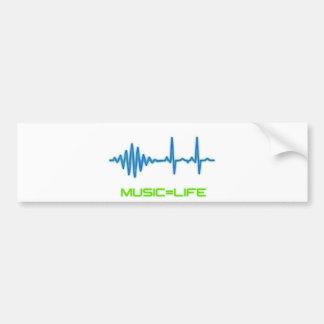 Music=Life Bumpersticker