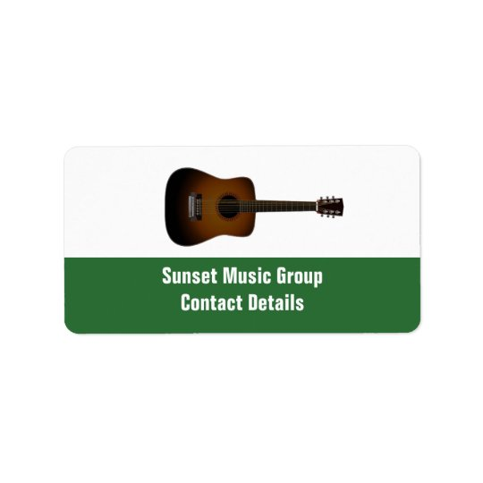 Musicus en het PromotieEtiket Avery van de Muziek Etiket