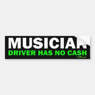 Musicus - Geen Contant geld Bumpersticker