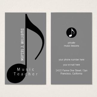 musicus grijs visitekaartje met muzieknoot visitekaartjes