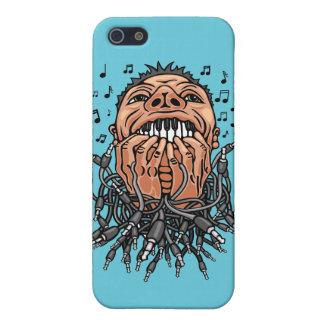 musicus spelen op zijn tanden als op toetsenbord iPhone 5 hoesje
