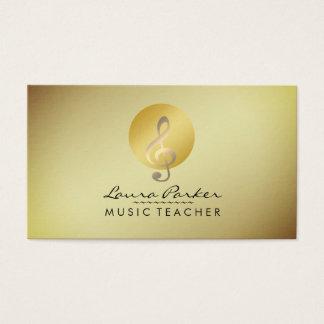 Musicus van de Muzieknoot van de Leraar van de Visitekaartjes