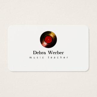 musicus visitekaartje met een vinylverslag visitekaartjes