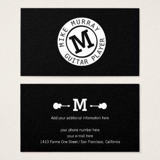 musicus zwart wit visitekaartje met monogram visitekaartjes