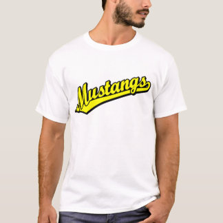 Mustangen in Geel T Shirt
