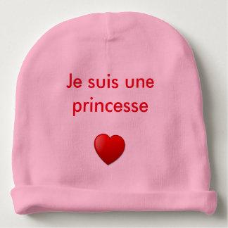 """Muts baby meisje """"ik ben een prinses """" baby mutsje"""
