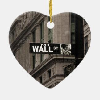 Muur St New York Keramisch Hart Ornament