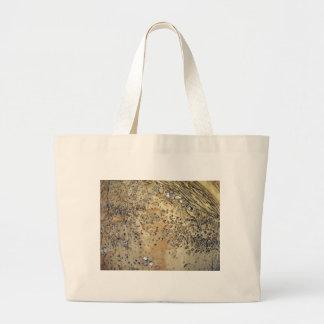 Muur van cement die met stenen wordt gestrooid jumbo draagtas