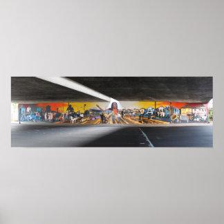Muurschildering 1 van de Helden van Oakland Super Poster