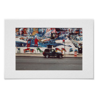 Muurschildering in New York Poster