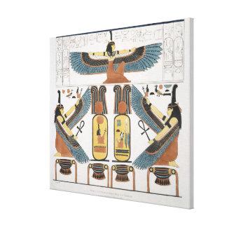 Muurschildering van de Graven van de Koningen in T Gallerij Wrap Canvas