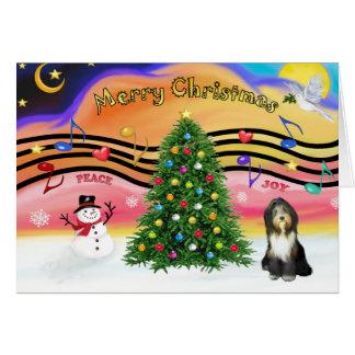 Muziek 2 van Kerstmis - Gebaarde Collie 9 Briefkaarten 0