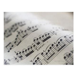 Muziek 9 van het blad briefkaart