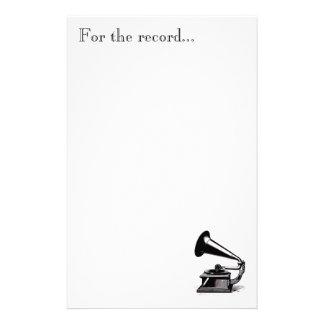 Muziek aan Ons Briefpapier van Oren