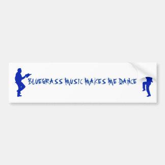 MUZIEK-BUMPER BLUEGRASS STICKER