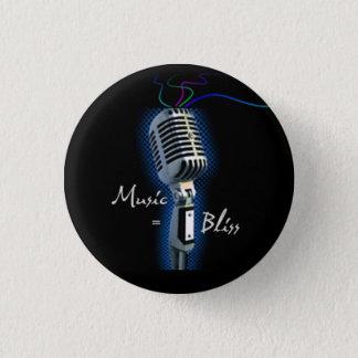 Muziek = de miniknoop van de Zaligheid Ronde Button 3,2 Cm