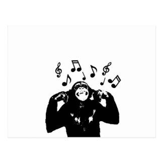 muziek monkeymonkey briefkaart
