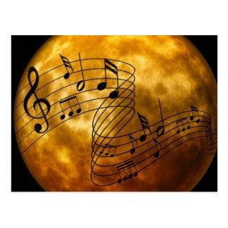 Muziek, muziek, muziek briefkaart