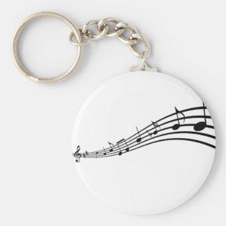 muziek nota's sleutelhanger