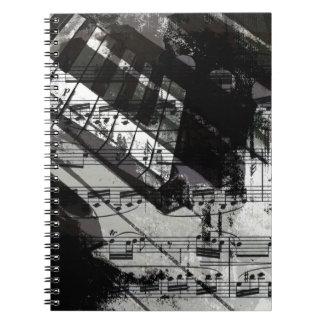 muziek, pianodecor (10) ringband notitie boeken